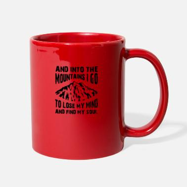 Mountains and into the mountains - Full Color Mug