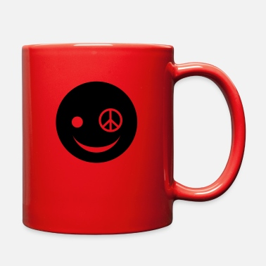 Peace Face Peace Happy Face - Full Color Mug