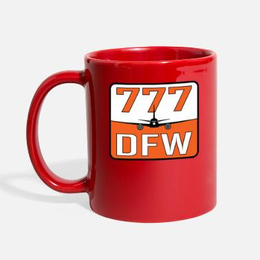 Airplane DFW 777 - Full Color Mug