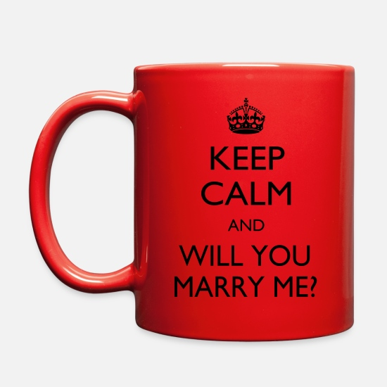 Proposal Mugs & Drinkware - Marry me - Full Color Mug red