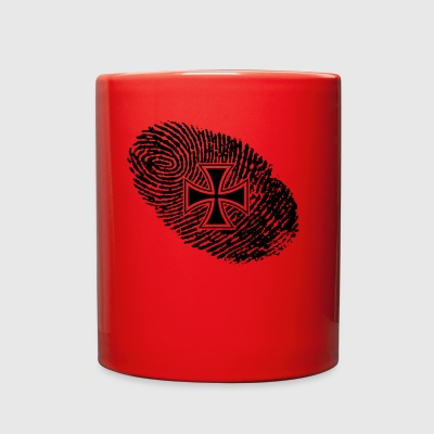 fingerabdruck dns dna geschenk iron cross eisernes - Full Color Mug
