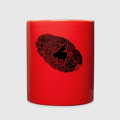 fingerabdruck dns dna geschenk piano klavier - Full Color Mug