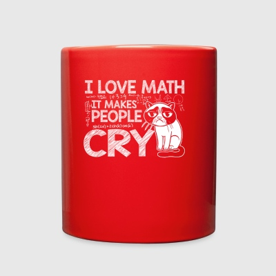Math It Makes People Cry Math Cat Lover - Full Color Mug