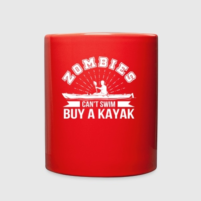 Zombies Cant Swim Buy A Kayaking Saying - Full Color Mug