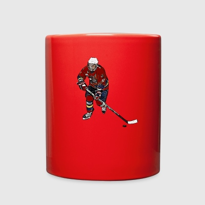 Comic female ice hockey player - Full Color Mug