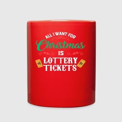 Funny Lottery Tickets Christmas Money Cash Gift Ca - Full Color Mug