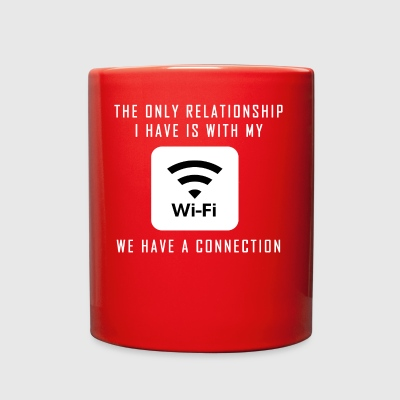 Single Pun Joke Funny Wifi Joke Graphic - Full Color Mug