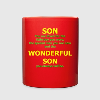 Son You are Loved For The Little Boy You Were - Full Color Mug