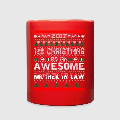 2017 First Christmas Awesome Mother In Law Sweater - Full Color Mug