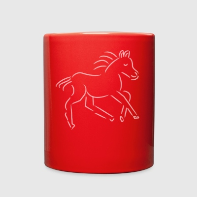 gallopping horse stallion Mare drawing stud ride - Full Color Mug
