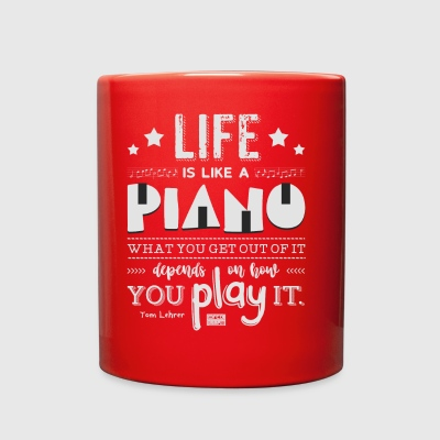 Life is Piano Inspirational Quotes Music Lover - Full Color Mug
