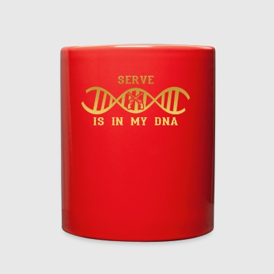 dns dna roots love calling sheriff police revolver - Full Color Mug