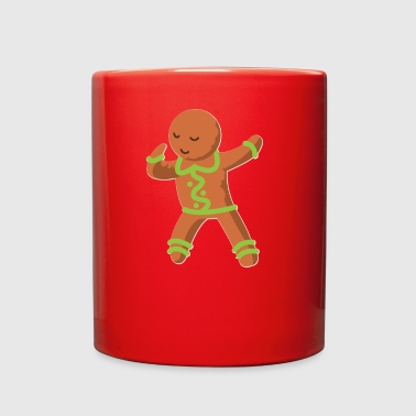Cute GingerBread Man Dabbing Christmas Shirt - Full Color Mug
