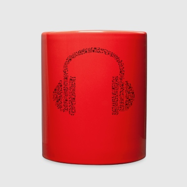 music headphone - Full Color Mug