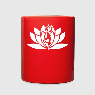 yoga blossom logo white - Full Color Mug