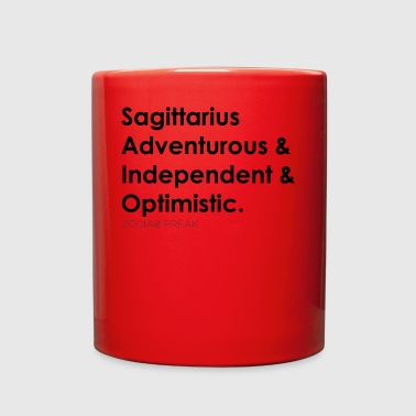 Sagittarius Black - Full Color Mug