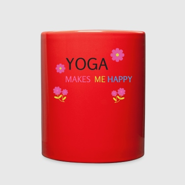 YOGA make me happy Meditation present gift - Full Color Mug