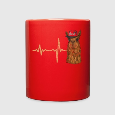 gift heartbeat lama with cap - Full Color Mug