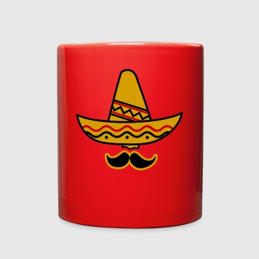 Sombrero Hat Mexican Mexico Beard Moustache Gift - Full Color Mug