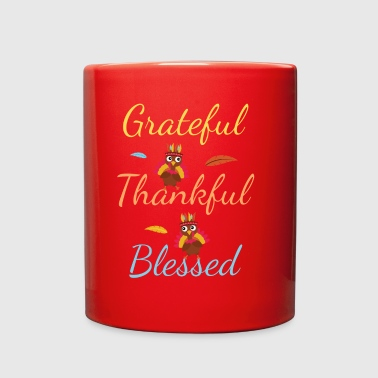 for person who is grateful, thankful and blessed! - Full Color Mug