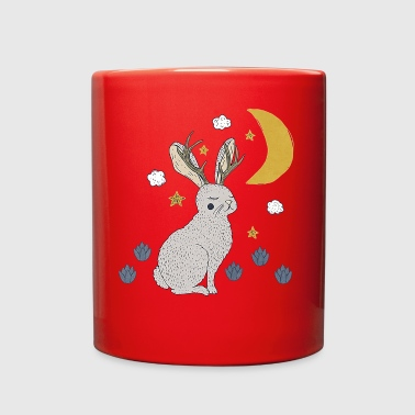 jackalope rabbit - Full Color Mug