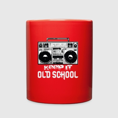 Old School Boombox 80s | Keeping It Old School - Full Color Mug