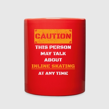 CAUTION WARNUNG TALK ABOUT HOBBY Inline skating - Full Color Mug