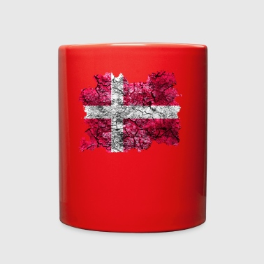 Denmark Vintage Flag - Full Color Mug