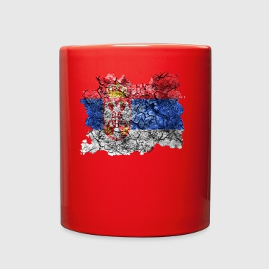 Serbia Vintage Flag - Full Color Mug