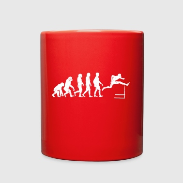 Funny Evolution Track and Field Athletics T-shirt - Full Color Mug