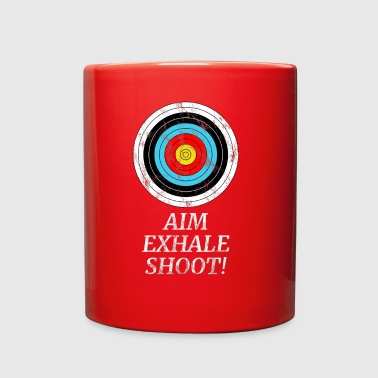 ARCHER TARGET ARCHERY BOW AND ARROW GIFT SHOOTING - Full Color Mug