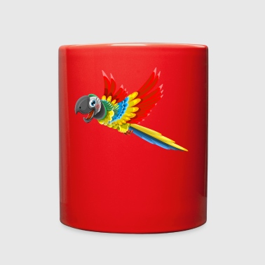 Bird Parrot flying wildlife animal vector image - Full Color Mug