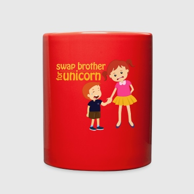 Siblings swap brother for unicorn brother & sister - Full Color Mug