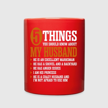 5 Things About My Husband - Full Color Mug