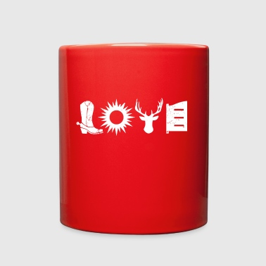 Love Cowboy Gift T-shirt - Full Color Mug
