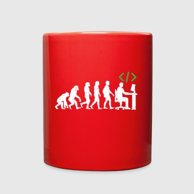 Funny Programmer Coder Evolution - Full Color Mug