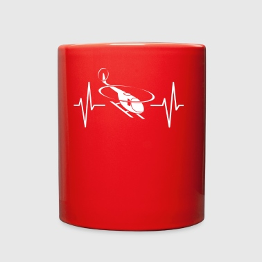 My heart beats for helicopter! heartbeat gift - Full Color Mug