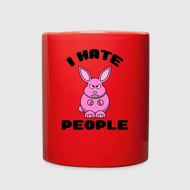 I Hate People Funny Bunny Shirt Hoodie Cup Gift - Full Color Mug