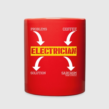 Problems Solution Coffee Sarcasm Electrician - Full Color Mug