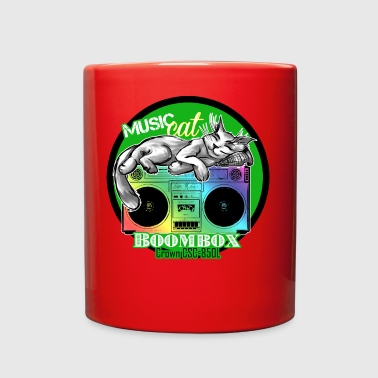 Boombox Crown CSC 850L with Music Cat - S83 - Full Color Mug