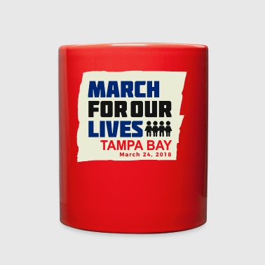 March For Our Lives Tampa Bay March 24, 2018 - Full Color Mug