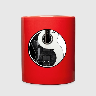 Yin Yang Guitars Light & Dark Chinese Tai Chi - Full Color Mug