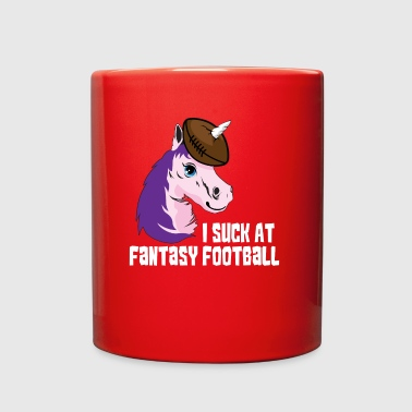 I Suck At Fantasy Football Party Unicorn Gift - Full Color Mug