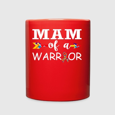 Mam Of A Warrior Autism Awareness - Full Color Mug