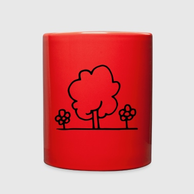 Tree with flowers - Full Color Mug