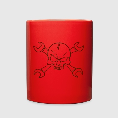 mechanic skull - Full Color Mug