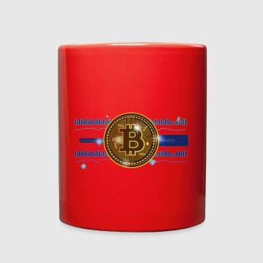 Cool Bitcoin currency Logo and Graphical Design - Full Color Mug