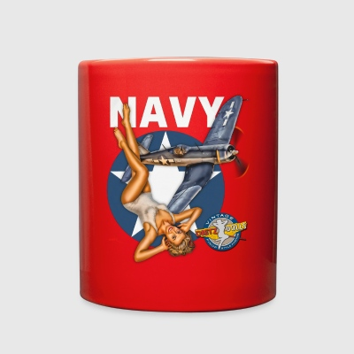 WW2 Navy Corsair Pinup - Full Color Mug