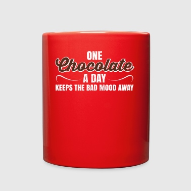 One Chocolate A Day Keeps Bad Mood Away Gift - Full Color Mug