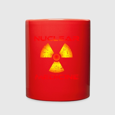 Nuclear Medicine, Red and Yellow Radioactive Logo - Full Color Mug